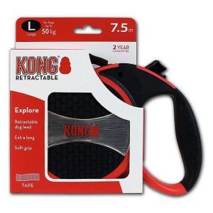 Поводок-рулетка для собак Kong EXPLORE L, красный