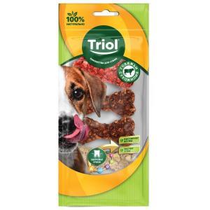 Лакомства для собак Triol, 10 г, сыромятная кожа, 6 шт.
