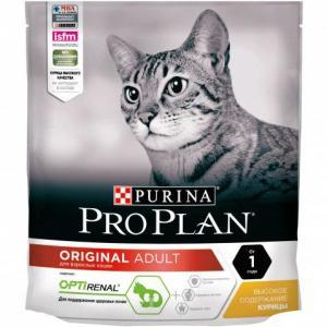 Корм для кошек Pro Plan Adult, 400 г, курица с рисом