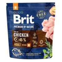 Фотография товара Корм для собак Brit Premium by Nature Adult M, 1 кг, курица
