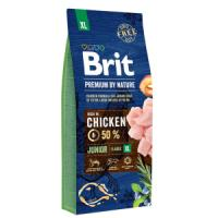 Фотография товара Корм для щенков Brit Premium by Nature Junior XL, 15 кг, курица