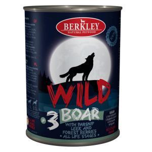 Корм для собак Berkley Berkley Wild #3, 400 г, кабан с пастернаком, сладким луком и лесными ягодами