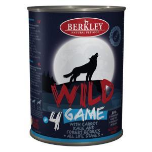 Корм для собак Berkley Berkley Wild #4, 400 г, дичь с морковью, капустой и лесными ягодами
