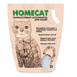 Наполнитель для кошачьего туалета Homecat Стандарт, 1.8 кг, 3.8 л