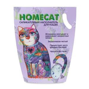 Наполнитель для кошачьего туалета Homecat Лаванда, 1.8 кг, 3.8 л