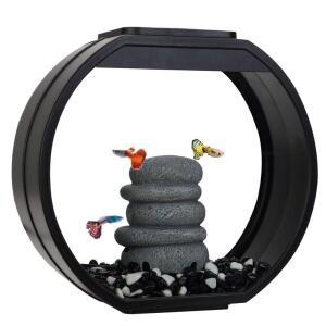 Аквариум для рыб AA-Aquarium Deco O Mini UPG, размер 33.5х13.6х31см., черный
