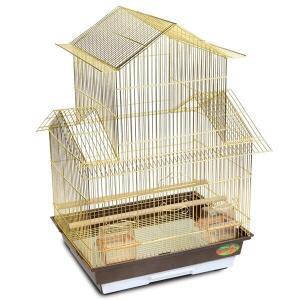 Клетка для птиц Triol 6118G, размер 46.5x36x69см., золото