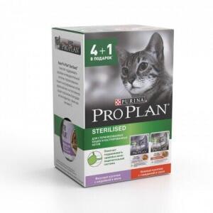 Корм для кошек Pro Plan Sterilised, 425 г, индейка и говядина