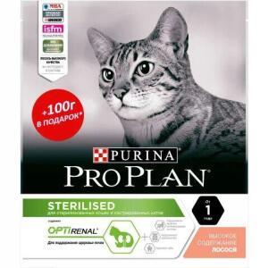 Корм для кошек Pro Plan Sterilised, 500 г, лосось
