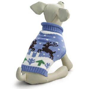 Свитер для собак Triol Олени XS, размер 20см.