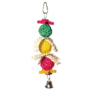 Игрушка для птиц Triol Плетеные шарики, размер 24/28х11см.