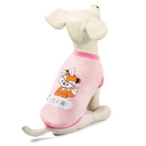 Майка для собак Triol Лисичка XS, размер 20см., бежево-серый