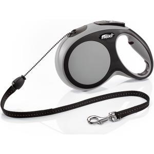 Поводок-рулетка для собак Flexi New Comfort M Cord, серый