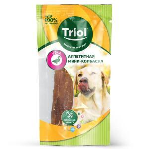 Колбаска для собак Triol PT001, 140 г, утка