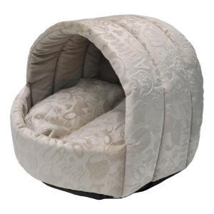 Домик для собак и кошек Homepet Велюр S, размер 38х35х27см., бежевый