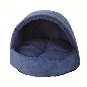 Домик для собак и кошек Homepet Велюр M, размер 44х44х36см., синий