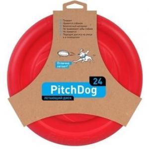 Игрушка для собак PitchDog SPORTBALL, размер 24см., красный