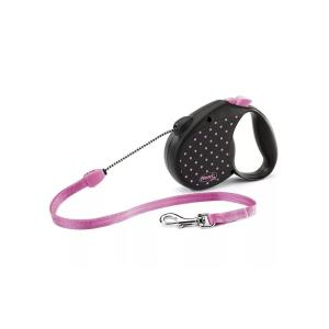 Рулетка для собак Flexi COLOR DOTS S, розовый