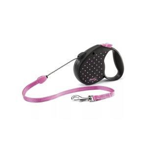 Рулетка для собак Flexi COLOR DOTS, розовый