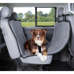 Автомобильная подстилка для собак Trixie Car Seat Cover, размер 145х160см., серый/черный