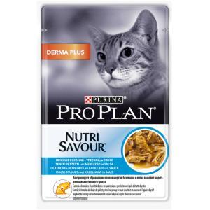 Корм для кошек Pro Plan Adult Derma Plus, 85 г, треска