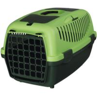 Фотография товара Бокс-переноска для собак и кошек Trixie Capri 2, размер 2, размер 37х34х55см., темно-зеленый / светло-зеленый