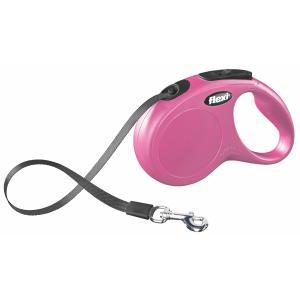 Поводок-рулетка для собак Flexi New Classic S, розовый