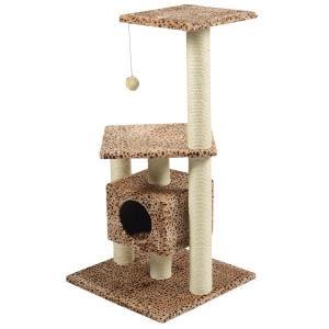 Игровой комплекс для кошек Triol NT3069, размер 56х56х111.5см., бежевый