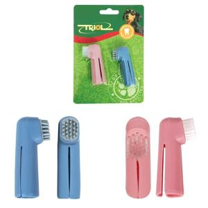 Зубные щетки для собак Triol P535, 2, розовый, голубой