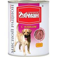 Фотография товара Корм для собак Четвероногий гурман мясной рацион, 850 г, язык