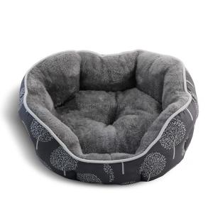 Лежак для собак Triol Сказочный лес L, размер 70х65х18см., серый