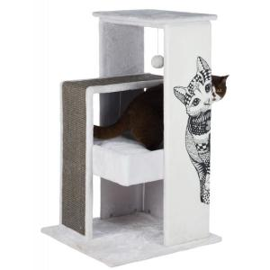 Домик-когтеточка для кошек Trixie Maria Scratching Post, размер 58х58х101см., бело-серый