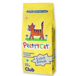 Наполнитель для кошачьего туалета Pretty Cat Супер белый, 10 кг