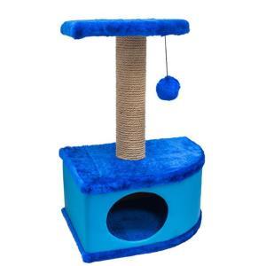 Домик-когтеточка для кошек Yami-Yami Конфетти, размер 49х37х70см., синий