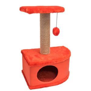 Домик-когтеточка для кошек Yami-Yami Конфетти, размер 49х37х70см., красный