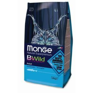 Корм для кошек Monge Bwild Cat Anchovies, 1.5 кг, анчоусы