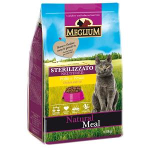 Корм для кошек MEGLIUM Cat Adult, 1.5 кг, курица с говядиной и рыбой
