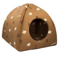 Фотография товара Домик для кошек и собак Дарэлл ЮРТА M, размер 42х42х41см., коричневый