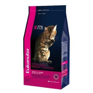 Корм для кошек Eukanuba Overweight & Sterilised, 1.5 кг, курица