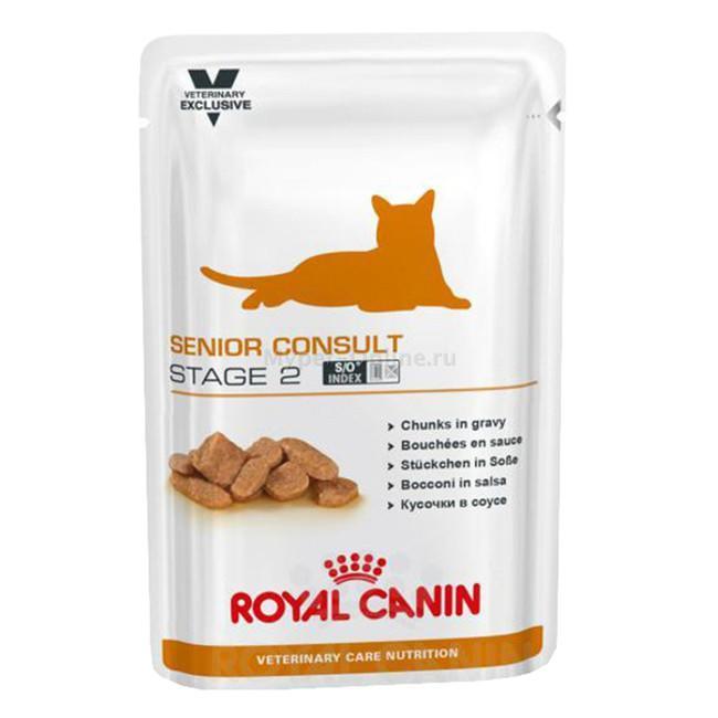 Корм для кошек Royal Canin Senior Consult Stage 2, 100 г - Интернет зоомагазин MyPet-Online.ru