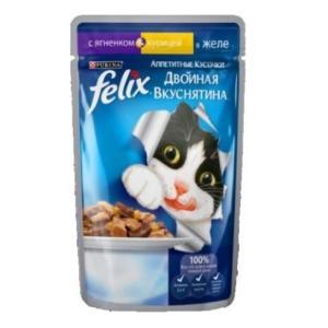 Корм для кошек Felix Двойная Вкуснятина, 85 г, ягненок с курицей