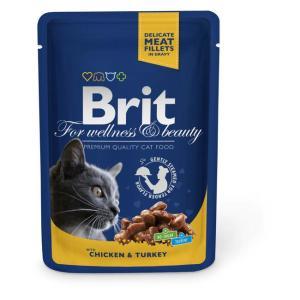 Корм для кошек Brit Chicken & Turkey, 100 г, курица и индейка