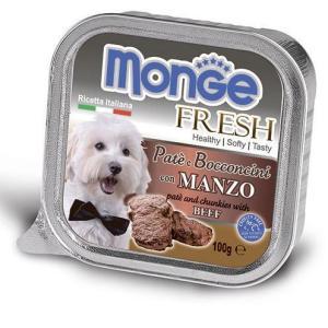 Monge Dog корм для собак Monge Fresh, 100 г, говядина