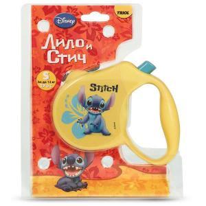 Поводок-рулетка для собак Triol Disney Stitch S, размер 13.5х2.5х10см.