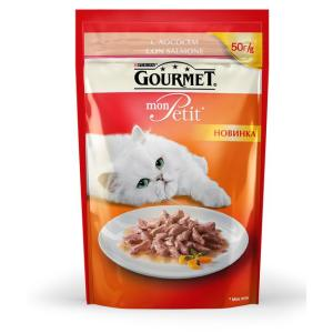 Корм для кошек Gourmet Mon Petit, 50 г, лосось