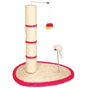 Когтеточка для кошек Triol Когтеточка с мышкой на пружине с шариком , размер 30x50см.
