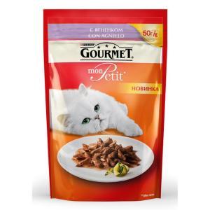 Корм для кошек Gourmet Mon Petit, 50 г, ягненок