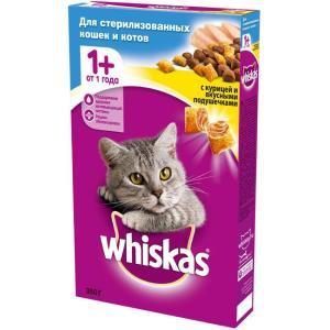 Корм для кошек Whiskas Подушечки, 350 г, курица
