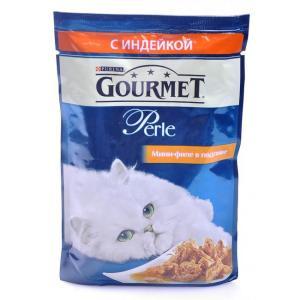 Корм для кошек Gourmet Perle, 85 г, индейка