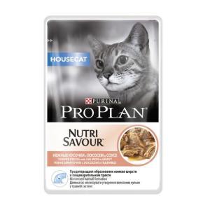 Консервы для домашних кошек Pro Plan Nutrisavour Housecat, 85 г, лосось в соусе